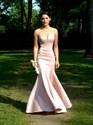 Blush Pink Illusion Neckline Sleeveless Mermaid Long Prom Gown