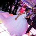 Beaded V Neck Cap Sleeve Lace Bodice Ball Gown Tulle Wedding Dress