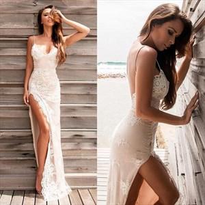 Sexy Backless Embellished Chiffon Prom Dress With Spaghetti Straps