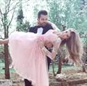 Pink V-Neck Lace Embellished Sheer Long Sleeve Knee Length Prom Dress