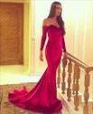 Elegant Off The Shoulder Sweetheart Neck Long Sleeve Mermaid Dress