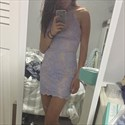 Lilac Sexy Halter Backless Lace Applique Mini Bodycon Party Dress