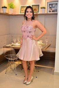 Beaded Embellished Illusion Neck Short Homecoming Dress