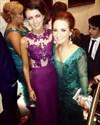 Grape Lace Bodice Chiffon Skirt Mermaid Long Bridesmaid Dress