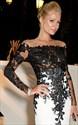 Sheer Lace Applique Long Sleeve Sheath Floor Length Prom Dress
