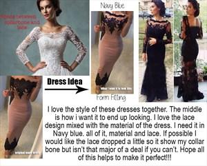 Custom dress order for Rhonda Cameron