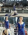 Vintage Sheer Lace Applique Embellished Long Sleeve Tulle Prom Dress