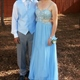 Light Blue Spaghetti Strap Side Cut Out Prom Dress With Beaded Bodice