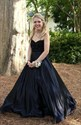 Black Strapless Sweetheart Beaded Top Ball Gown Formal Dress