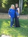 Navy Blue Side Cutout Sequin Sheath Floor Length Prom Dress