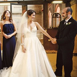 Ivory Spaghetti Strap Sleeveless Ball Gown Wedding Dress