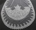 Two-Tier Vintage Lace Applique Edge Cathedral Bridal Veils