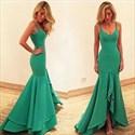 Teal Mermaid Floor-Length Sweetheart Formal Dress With Straps