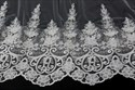 One-Tier Lace Applique Edge Cathedral Bridal Veil With Sequins