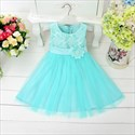 Pink A Line Lace Bodice Flower Girl Dress With Flower Sash