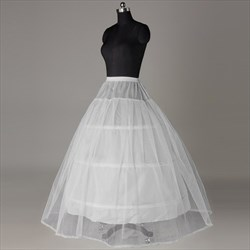 Women Tulle Satin Floor-Length 2-Tier Ball Gown Petticoat