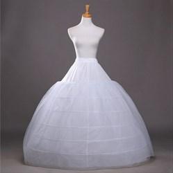 Women Tulle Satin Floor-Length Ball Gown Petticoat
