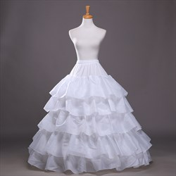 Women Taffeta/Polyester Floor-Length Ball Gown Petticoat