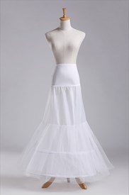 Women Tulle Netting Nylon Mermaid Floor Length Petticoat
