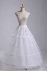Women Tulle Netting Nylon/Lace Floor Length Ball Gown Petticoat