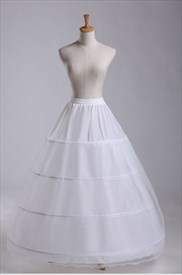 Women Tulle Netting Nylon/Lace Floor Length Ball Gown Petticoat