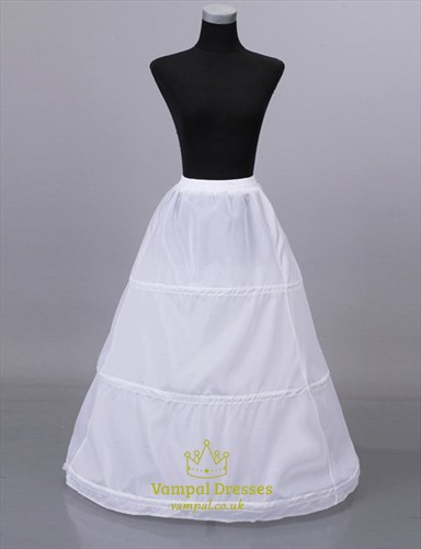 Women Polyester Floor-Length Simple A-Line One-Tier Petticoat