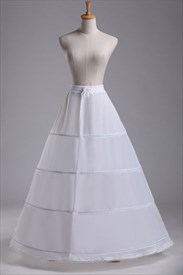 Women Polyester Lace Floor Length One-Tier Ball Gown Petticoat
