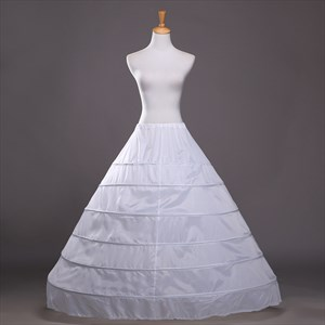 Women Polyester A-Line Floor-Length Ball Gown One-Tier Petticoat