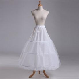 Women Tulle Netting Nylon A-Line Ankle Length Petticoat