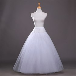 Women Tulle Netting A-Line Floor-Length Ball Gown Petticoat