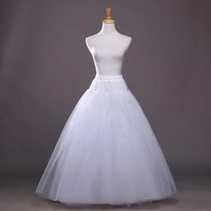Women Tulle Netting A-Line Floor-Length Ball Gown Petticoat