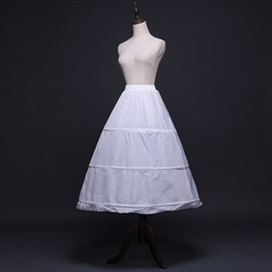 Women Nylon Polyester One-Tier Ankle Length A-Line Petticoat