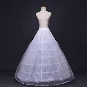 Women Tulle Netting Nylon A-Line Ball Gown Two-Tier Petticoat