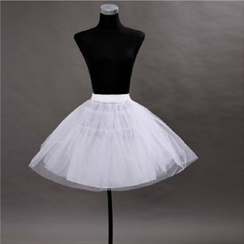 Women Tulle Netting A-Line Short-Length Three-Tier Petticoat