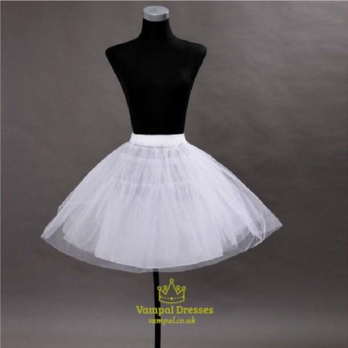 Women Tulle Netting A-Line Short-Length Three-Tier Petticoat