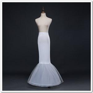 Women Polyester Tulle Netting Mermaid Floor Length Petticoat