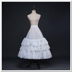 Women Taffeta Polyester Tea-Length A-Line Three-Tier Petticoat