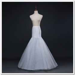 Women Polyester Tulle Netting Mermaid Floor Length Petticoat