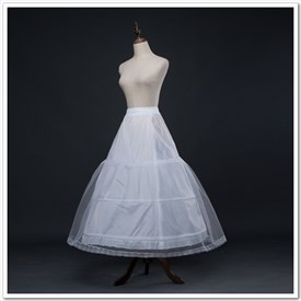Women Tulle Netting Polyester/Lace Ankle Length A-Line Petticoat
