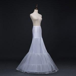 Women Tulle Nylon/Polyester Floor Length Mermaid White Petticoat