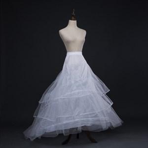 Women Tulle Netting Polyester Chapel Train Four-Tier Petticoat
