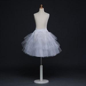Girls Tulle Netting/Polyester Short-Length A-Line White Petticoat