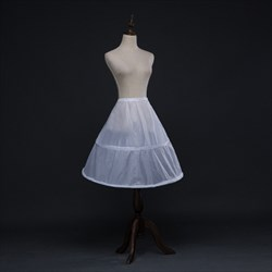 Women Nylon Polyester Knee Length A-Line One-Tier Petticoat