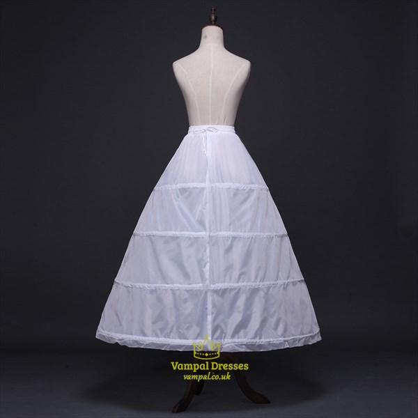Women Polyester Satin Floor Length One-Tier Ball Gown Petticoat