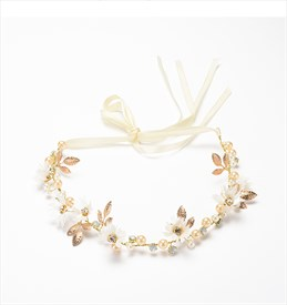 Exquisite Alloy Imitation Flower/Pearls Headbands