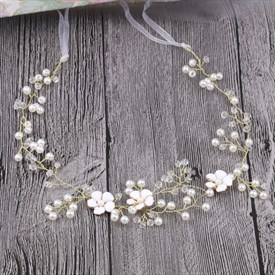 Exquisite Alloy Imitation Pearls & Rhinestones Headbands