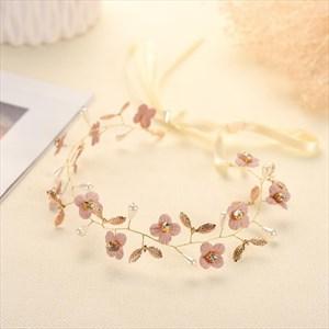 Chic Alloy Fabric Flower/Imitation Pearls Headbands