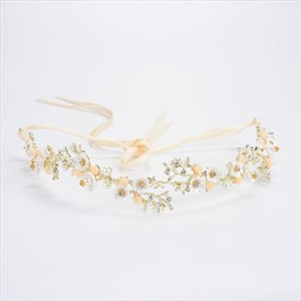 Exquisite Alloy Imitation Pearls & Rhinestone Headbands