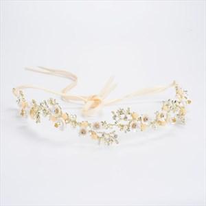 Exquisite Alloy Imitation Pearls & Rhinestone Headbands