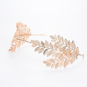 Exquisite Alloy Rhinestone Leaf Bridal Headbands